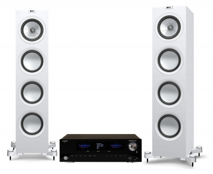 Advance Acoustic PlayStream A5 + KEF Q750 - weiss