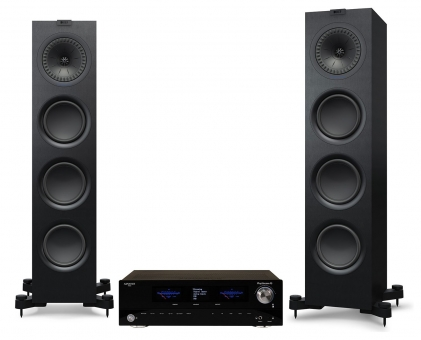 Advance Acoustic PlayStream A5 + KEF Q750 - schwarz