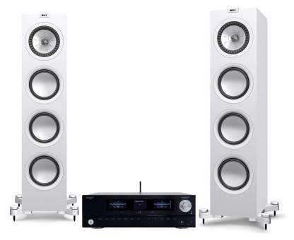 Advance Acoustic PlayStream A7 + KEF Q750 - weiss