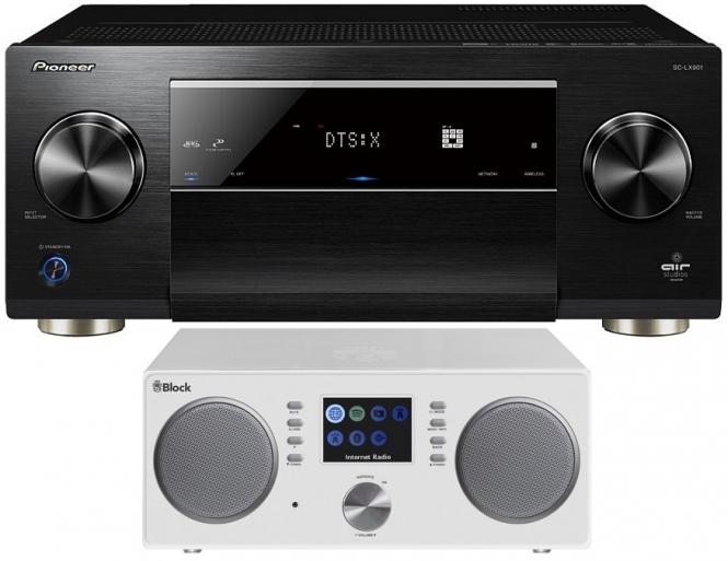 Pioneer SC-LX 901(schwarz) + Audioblock CR-20(weiss)