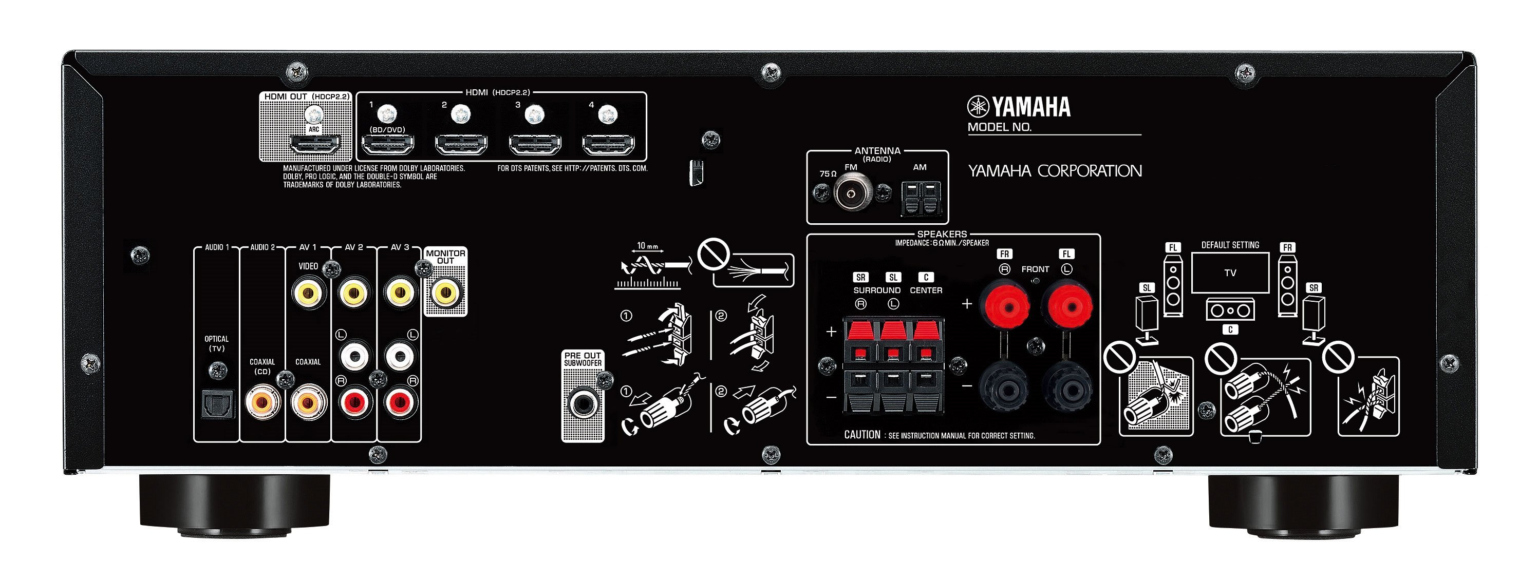 CSMusiksysteme GmbH | Yamaha HTR-3071 - schwarz | Hifi